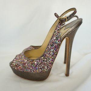 Jimmy Choo Multi-Colored Party Glitter Stilettos